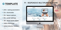 Pi Multipurpose Responsive WordPress Theme Screen shot