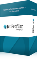 <p> 	Jet Profiler for MySQL is real-time query performance and diagnostics tool for the MySQL database server. It's detailed query information, graphical interface and ease of use makes this a great tool for finding performance bottlenecks in your MySQL databases.</p>