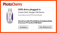 "<div style=""float: left""> 	<h1> 		PhotoCherry is the easiest photo backup tool in the universe!</h1> 	<strong>So easy to use, anyone can backup entire photo collection in just 3 easy steps.</strong> 	<ul> 		<li> 			Plug any USB Flash or External drive into your PC</li> 		<li> 			Wait until PhotoCherry stores all your photos on that drive</li> 		<li> 			Unplug and store the drive to a safe place → You're done!</li> 	</ul> 	<p> 		PhotoCherry will detect whenever you import new photos to your PC and kindly remind you it's time to plug in your backup drive. <b>→ Now, that's easy!</b></p> </div>"