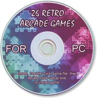 26 x Retro Arcade Games Compilation CD (NOTE: CD will be sent to the Street Address that you provide discount code