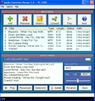 Audio Converter Deluxe - CD to MP3/WMA/WAV Converter Screen shot