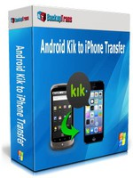 Backuptrans Android Kik to iPhone Transfer (Personal Edition) discount coupon