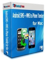 Backuptrans Android SMS + MMS to iPhone Transfer for Mac (Personal Edition) discount coupon
