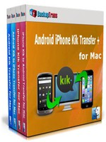 Backuptrans Android iPhone Kik Transfer + for Mac (Family Edition) discount code
