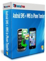 Backuptrans Android SMS + MMS to iPhone Transfer (Family Edition) discount coupon
