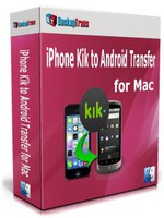 Backuptrans iPhone Kik to Android Transfer for Mac (Family Edition) discount coupon