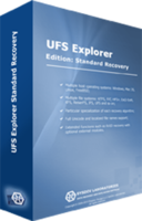 screenshot of UFS Explorer Standard Recovery (version 5 for Windows) - Personal License