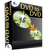 <p> 	DVD to DVD is a software to backup/copy your DVDs.</p> <p> 	Multiple audio + subtitles tracks supported<br /> 	Supports ISO images as input files<br /> 	Chapter support</p> <p> 	Quality helper guides you for your custom settings to get the best quality<br /> 	    Live preview<br /> 	    Uses Advanced Image Filter for best image quality<br /> 	    Optimized for multi-core processors meaning you get even faster conversions<br /> 	    CUDA supported</p> <p> 	Burn to DVD</p>