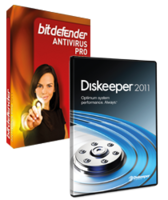 Discount coupon code for Diskeeper  and BitDefender 2011 Antivirus Pro