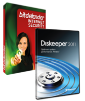 Discount coupon code for Diskeeper 2and BitDefender 2011 Internet Security