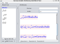 German-Arabic Joyful Dictionary With Word Test