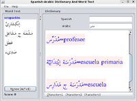 Spanish-Arabic Joyful Dictionary With Word Test Screen shot