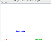 Desktop German Arabic Falling Words Game