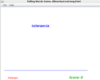 Desktop Spanish German Falling Words Game discount code