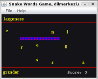 English Spanish Snake Game Screen shot