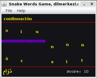 Spanish Arabic Snake Game Screen shot