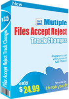 Multiple Files Accept & Reject Track Changes discount coupon
