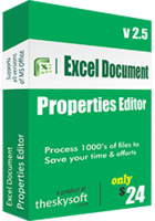 Excel Document Properties Editor discount coupon