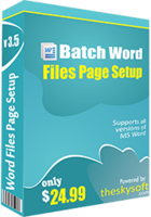 Batch Word Files Page Setup discount coupon