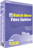 Batch Word Files Splitter discount coupon