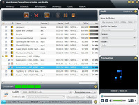 screenshot of mediAvatar Convertisseur Vidéo vers Audio