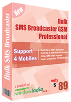 Bulk SMS Broadcaster GSM Professional discount coupon