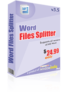 Word Files Splitter discount coupon