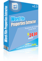 Word File Properties Extractor discount coupon