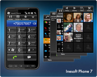 <p>Inesoft Phone 7  will turn your Windows Mobile communicator into the best phone you ever had. It will allow you to find contacts momentary, a few taps is just enough to make it. Inesoft Phone software is optimized for one-hand operating, integrated with SMS services and Pocket Calendar. It is fast and reliable. Compatible with and device powered by Windows Mobile 5, 6.</p>