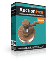 <p> 	AuctionPress is a powerful auction theme that harnesses the power of Wordpress to create 'ready-to-go' <strong>SEO friendly auction websites</strong> that can be <strong>setup in minutes</strong> with little or no programming knowledge required!</p>