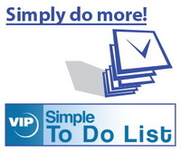 <p> 	VIP Simple To Do List is an easy-to-use PDA software for you to quickly organize and effectively manage your daily tasks. It uses To Do List method to help you do more in less time. It's an organizer, planner, notepad and reminder combined in one powerful application. Use our software to organize, prioritize and track completion of tasks, manage household projects and events, plan your life for days, months and years ahead.</p>