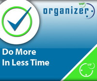 <p> 	VIP Organizer is a time and task management software which uses To Do List method to help you get through more work spending less time. The program increases your personal and professional productivity. It is an organizer, planner, notepad and reminder combined in one powerful application. Use our software to organize, prioritize and track completion of tasks, manage projects, workflow and events, plan your life for days, months and years ahead.</p>