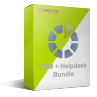 Redmine CRM + Helpdesk plugins bundle (Single-site)