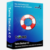 <p>Twins Backup is the most easy-to-use Windows backup software, simply press the F4 key to call Twins Backup 4.0, it ensures your system recovered from unforeseen events such as viruses, unstable software downloads, or even a boot failure in minutes.</p>