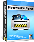 <p> 	4Videosoft Blu-ray to iPad Ripper is a delicate ripper for you to rip Blu-ray or the latest Blu-ray disc to iPad compatible format. It provides you with powerful editing functions for you to optimize the output video.</p>