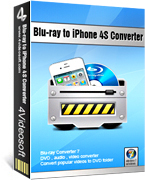 <p> 	4Videosoft Blu-ray to iPhone 4S Converter is one comprehensive Blu-ray to iPhone 4S converting software, which helps users to rip Blu-ray disc and common DVD to iPhone 4S video and audio files. Moreover, you can also extract audios from any popular video formats, like MP4, MOV, M4V, etc.</p>