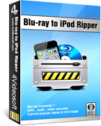 <p> 	4Videosoft Blu-ray to iPod Ripper is one easy-to-use and fast-to-convert Blu-ray ripper. It can rip the latest blu-ray disc and convert files to iPod and convert audio formats to apple iPod ones. It is also a powerful software.</p>