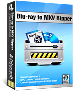 <p> 	4Videosoft Blu-ray to MKV Ripper is a full-featured Blu-Ray MKV ripper software which supports to convert your favorite blu-ray DVD to MKV, AVI, MP4, iPod, PSP, 3GP, Zune, iPhone, FLV, WMV, ASF, MOV, MPEG, etc.<br /> 	 </p>