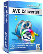 <p> 	4Videosoft AVC Converter is a powerful and easy-to-use AVC H.264 Converter which can easily convert video to AVC/H.264 video with lightning speed and lossless video quality. It also acts as audio converter or audio extractor to create your own music.</p>