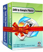 <p> 	4Videosoft DVD to Google Phone Suite is composed of two Google Phone Converter: 4Videosoft DVD to Google Phone Converter and 4Videosoft Google Phone Video Converter.</p>