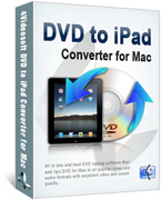 <p> 	4Videosoft DVD to iPad Converter for mac is the best Mac DVD to iPad Converter, which enables iPad users to convert DVD to iPad Mac compatible MP4, H.264, MOV, M4V, MP3, AAC, M4A, etc. conveniently.</p>