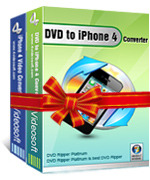 <p>4VideoSoft DVD a iPhone 4 Suite puede rasgar DVD a iPhone/iPhone 3GS/iPhone 4 MP4, H.264(.mp4), MOV, así que usted puede reproducirlos en tu iPhone 4 (MP4/MPEG-4 videos y audio MP3, M4A y WAV formato respectivamente).</p>