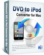 <p> 	4Videosoft DVD to iPod Converter for Mac is especially designed for iPod users to convert DVD to iPod, iPod Nano, iPod Touch, iPod Classic MP4, MOV video and MP3, AAC, AIFF, M4A audio on Mac.</p>