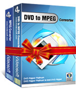 <p> 	4Videosoft DVD to MPEG Suite combines two excellent MPEG software, DVD to MPEG Converter and Video to MPEG Converter, which can convert DVD to MPEG, convert WMV, AVI, FLV, etc to MPEG in great output image and sound quality.</p>