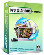 <p> 	4Videosoft DVD to Archos Converter makes it easy to rip DVD to Archos AVI, WMV, MP4, H.264/MPEG-4 AVC(.mp4).</p>