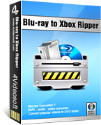 <p> 	4Videosoft Blu-ray to Xbox Ripper is one converter which can Rip Blu-Ray Disk and Convert DVD files to Xbox and Convert video/audio formats to Xbox ones. It also can convert dvd and IFO files to other formats like AVI, MP4, MOV, AAC, WMA, OGG, VOB.</p>