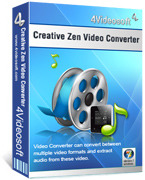 <p> 	Convert all the popular formats to Creative Zen supported video/audio formats.</p>