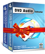 <p>4Videosoft DVD to Audio Suite est combiné avec deux convertisseurs audio: DVD au convertisseur Audio et Video to Audio Converter, qui vous aide à ripper DVD en audio WAV, M4A, MP3, AAC, WMA, AC3, OGG, RAM, RA, convertir vidéo en audio.</p>