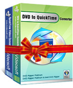 <p> 	4Videosoft DVD to QuickTime Suite is equipped with DVD to QuickTime Converter and Movie to QuickTime Converter. So it can convert DVD to QuickTime MOV, and convert DVD to MP4 by using DVD Movie to QuickTime Converter.</p>