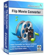 <p> 	4Videosoft Flip Movie Converter can convert Flip movie created by any series of Flip devices to any other video/audio formats, such as Flip movie to WMV, Flip movie to AVI, M4V, AVI, 3GP, FLV, HD video and AAC, MP3, OGG, WMA, etc for any players.</p>